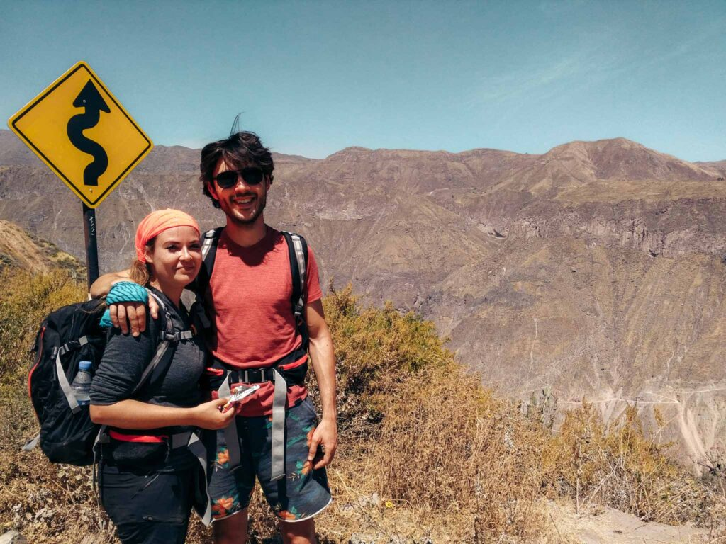Colca canyon trail