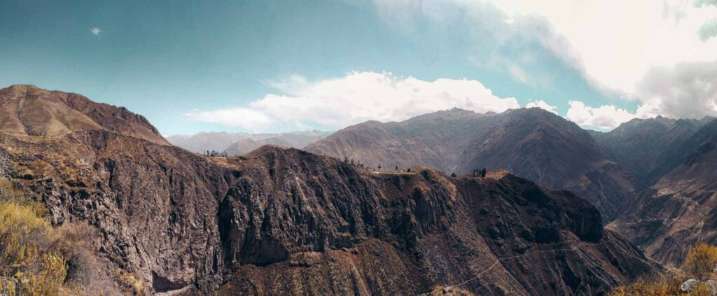 Colca canyon view panorama