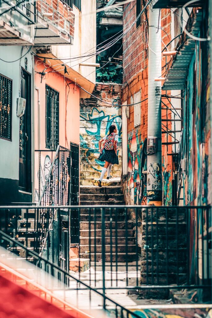 Medellin stairs street art