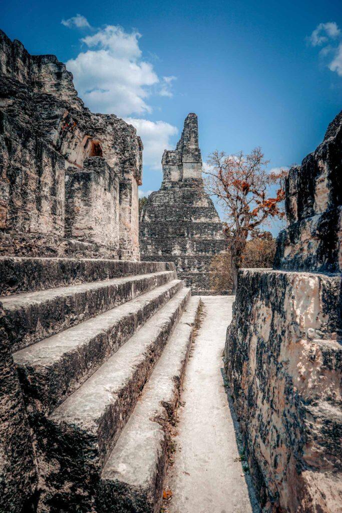 Tikal stairs