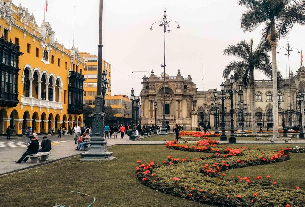 Lima plaza de armas view