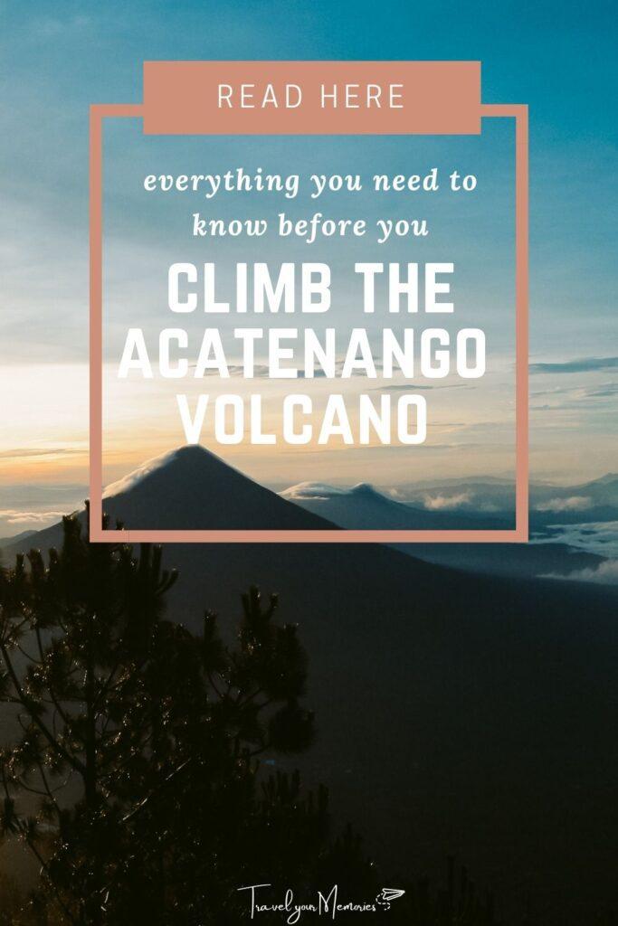 Acatenango hike pin I