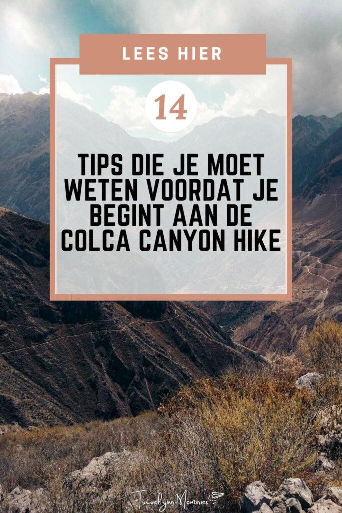 Colca Canyon hike Pin II