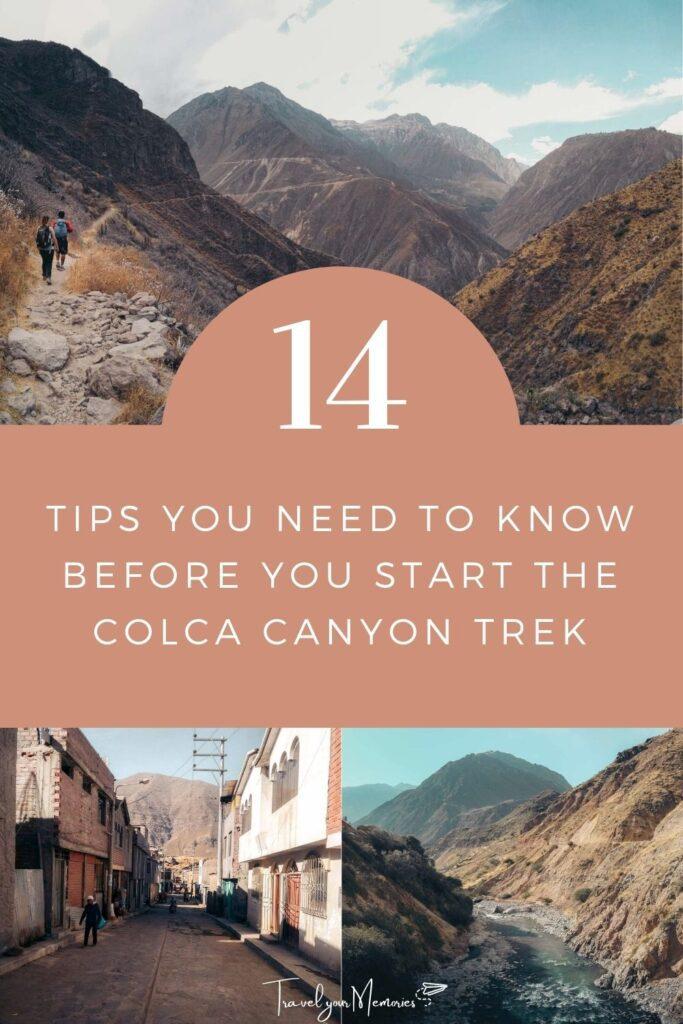 Colca Canyon trek pin I