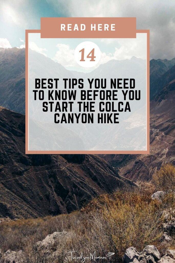Colca Canyon trek pin II
