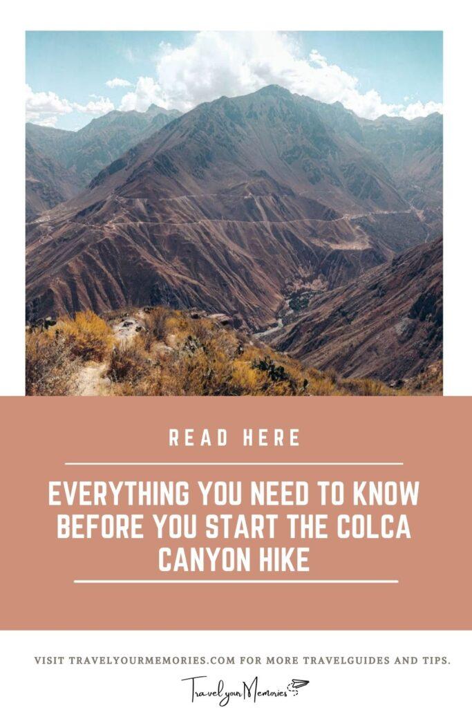 Colca Canyon trek pin III