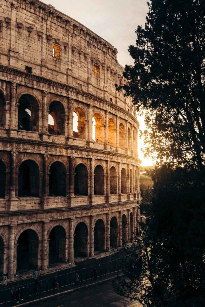 Rome Colosseum sunrise