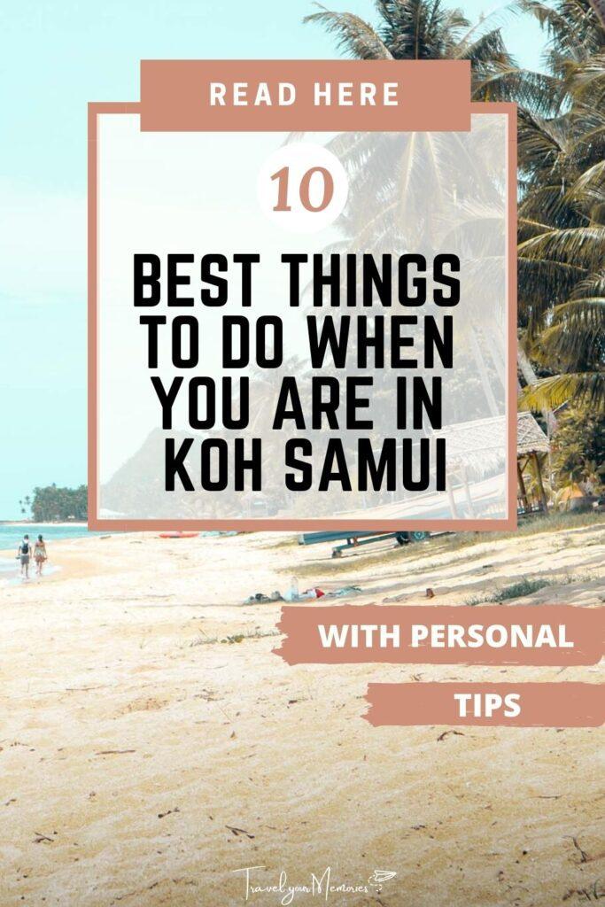 things to do at koh samui pin I