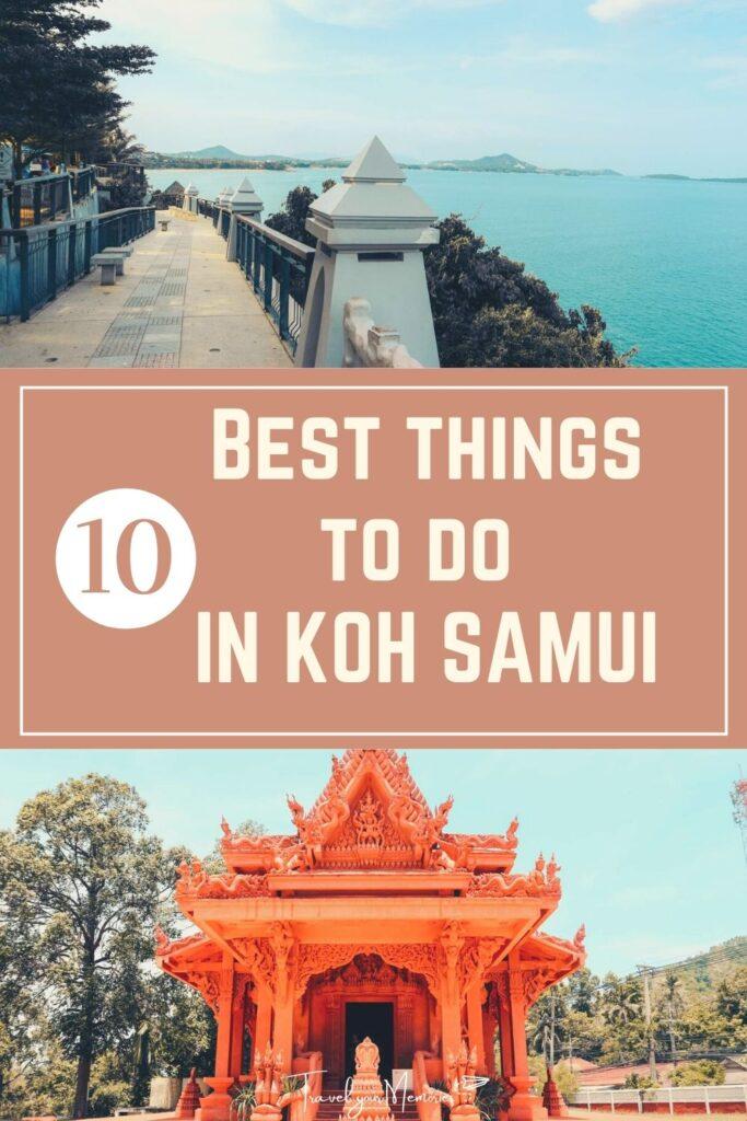 things to do at koh samui pin II