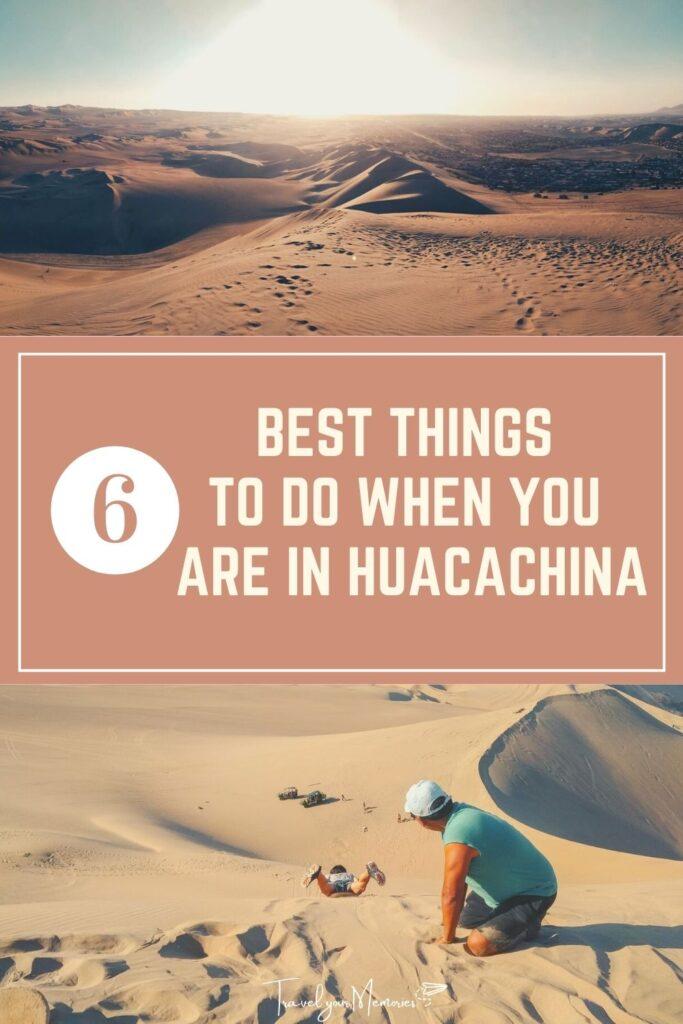 things to do in Huacachina Pin I