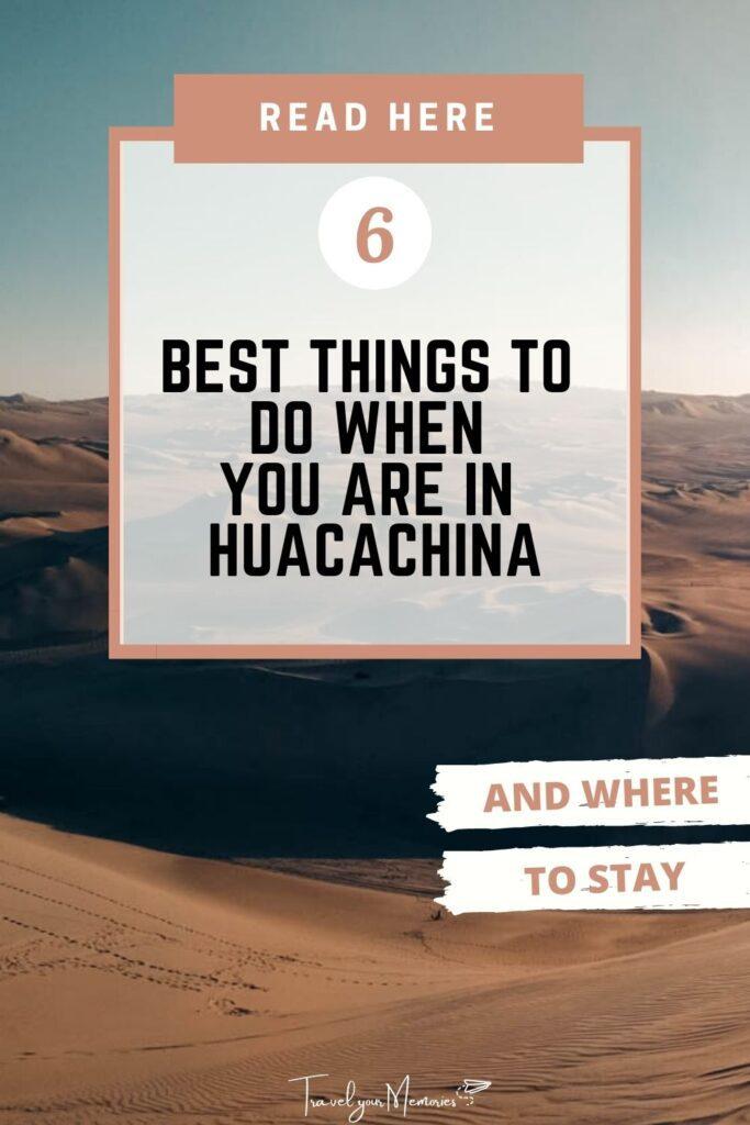 things to do in Huacachina Pin II