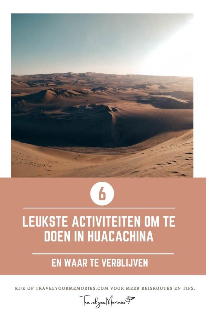 wat te doen in Huacachina Pin I