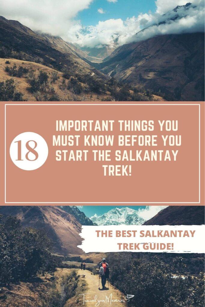Salkantay Trek guide pin II