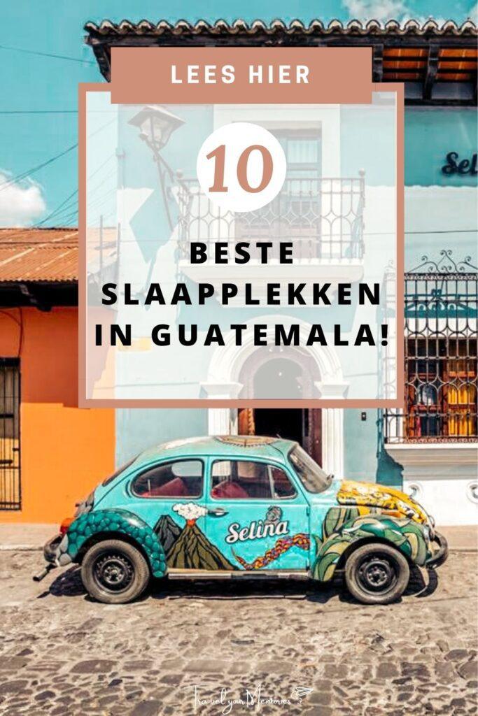 Slaapplekken in Guatemala Pin I