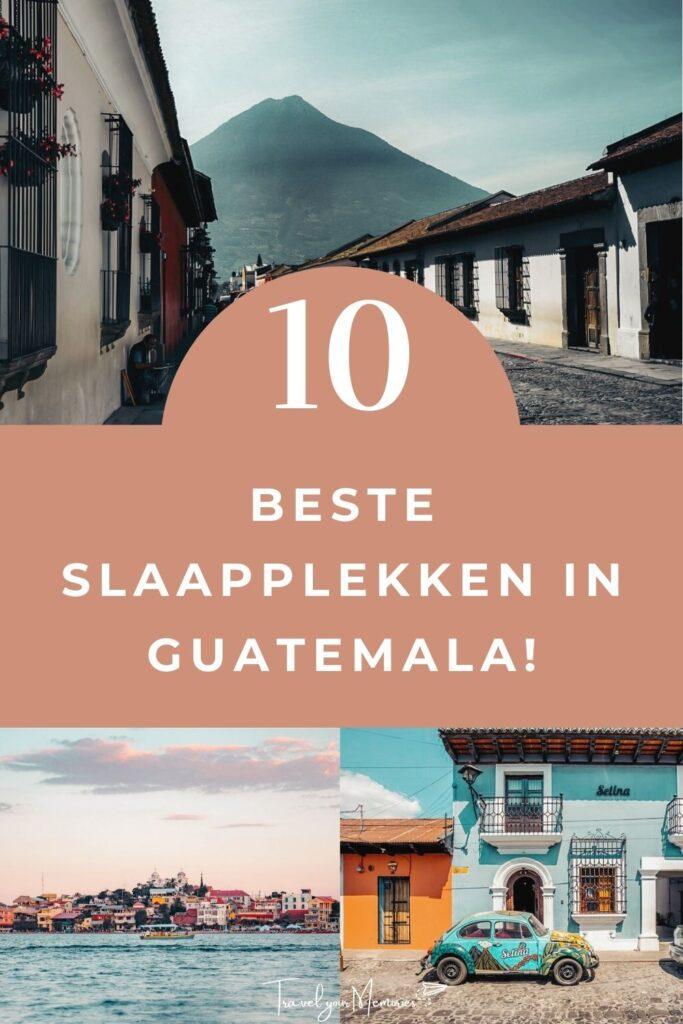 Slaapplekken in Guatemala Pin II