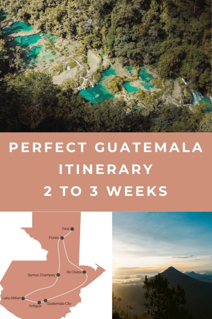 Guatemala itinerary pin I