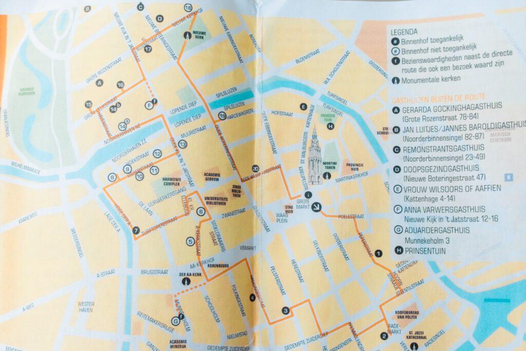 Hofjes map