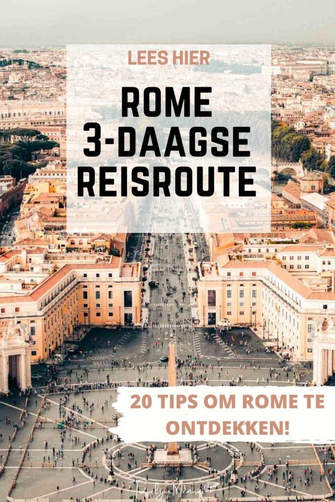 Rome 3 daagse reisroute pin I