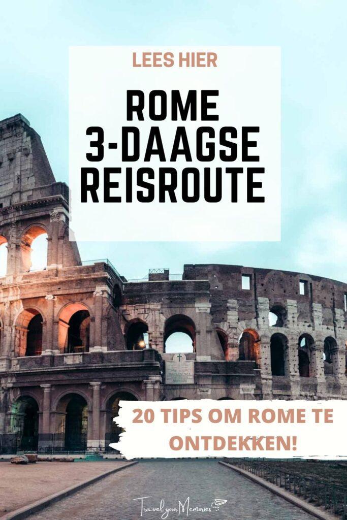 Rome 3 daagse reisroute pin III