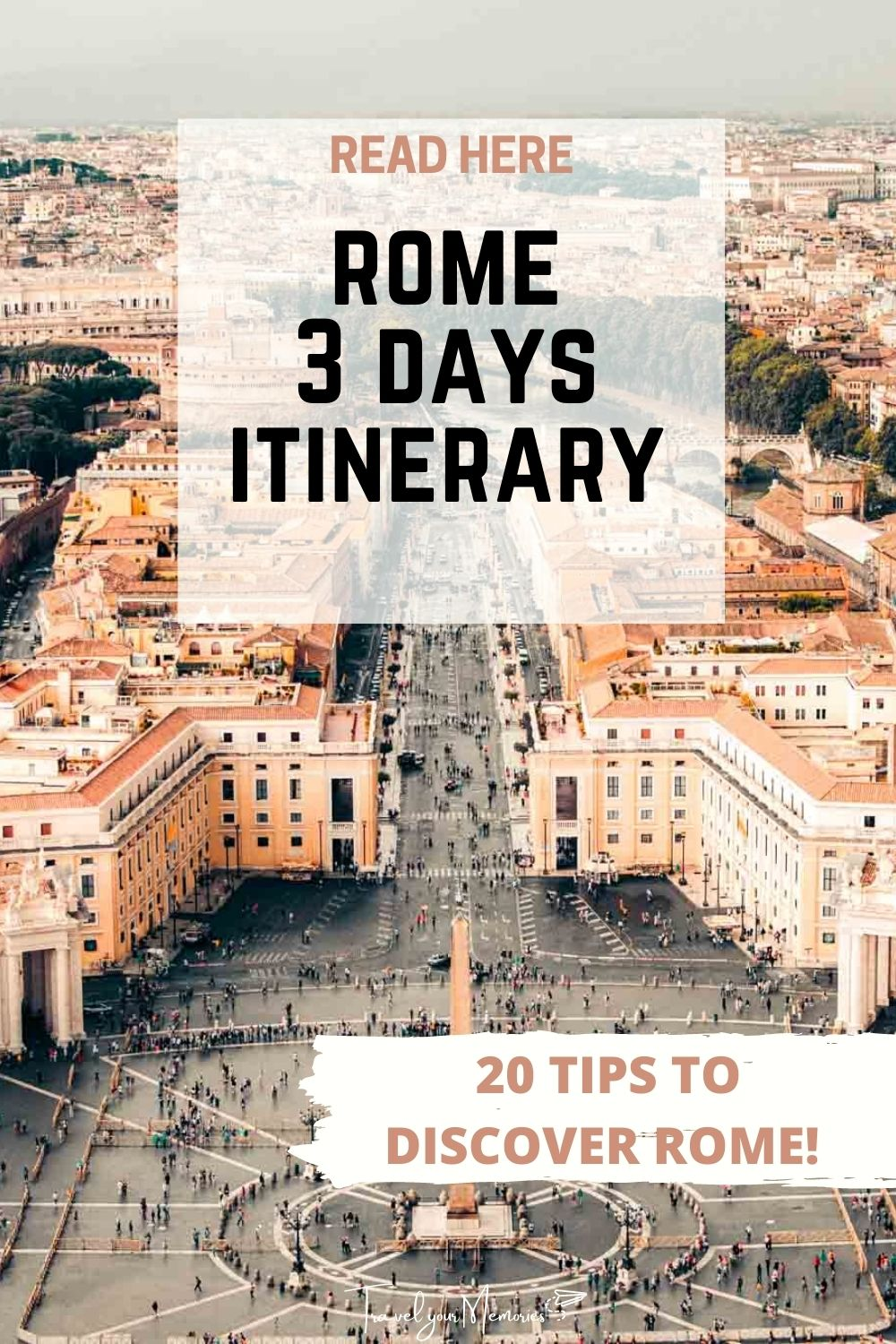 Best itinerary 3 days in Rome