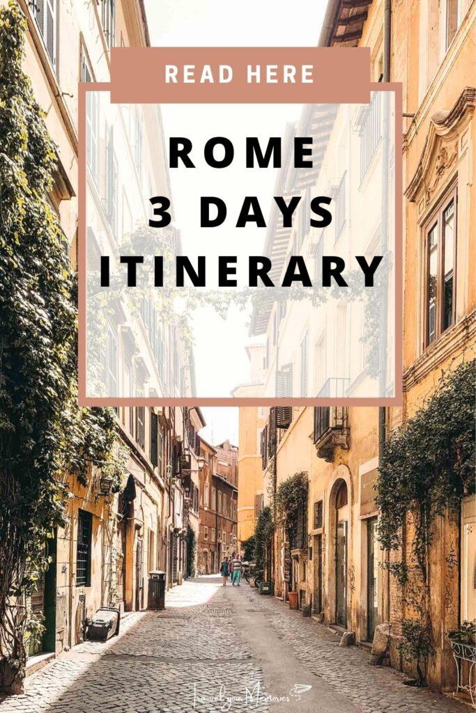 Rome 3 days itinerary pin II