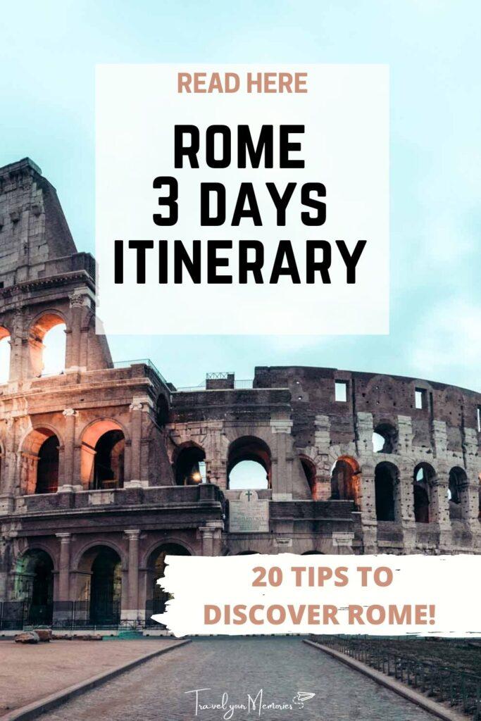 Rome 3 days itinerary pin III