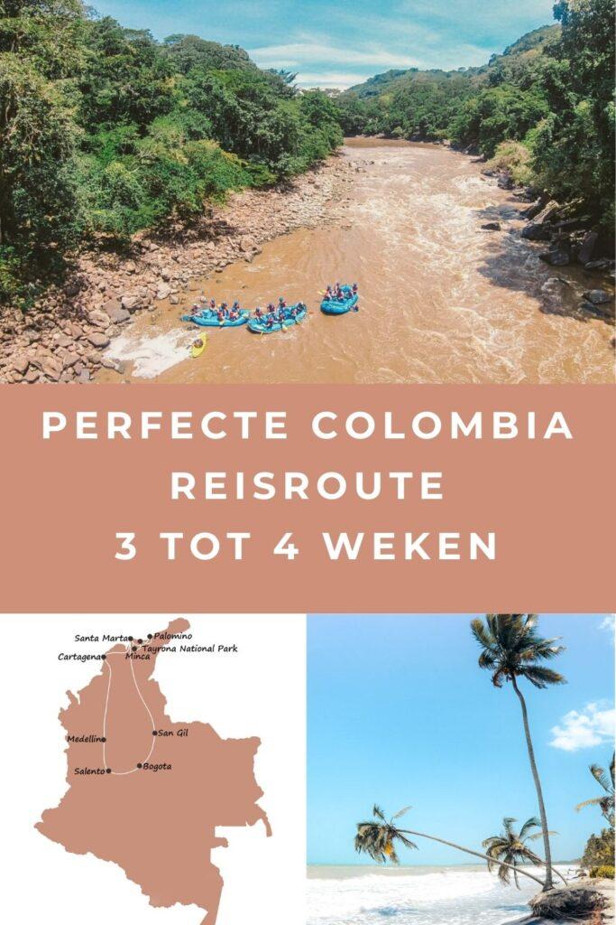 colombia reisroute pin II