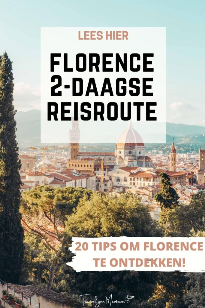 florence 2 dagen reisoute pin I
