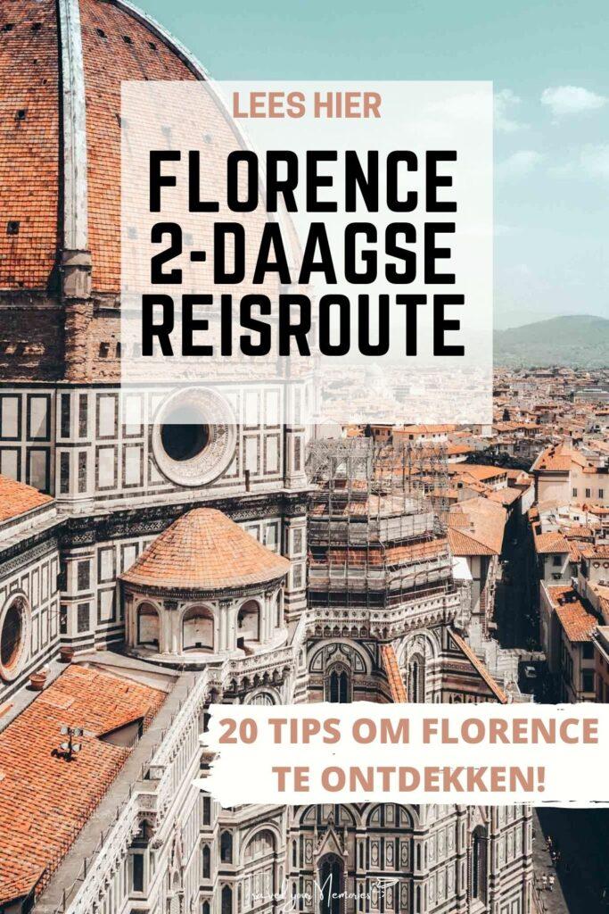florence 2 dagen reisoute pin III