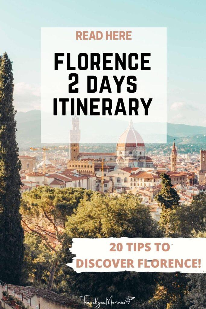 florence 2 days itinerary pin I