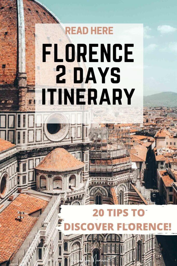 florence 2 days itinerary pin III