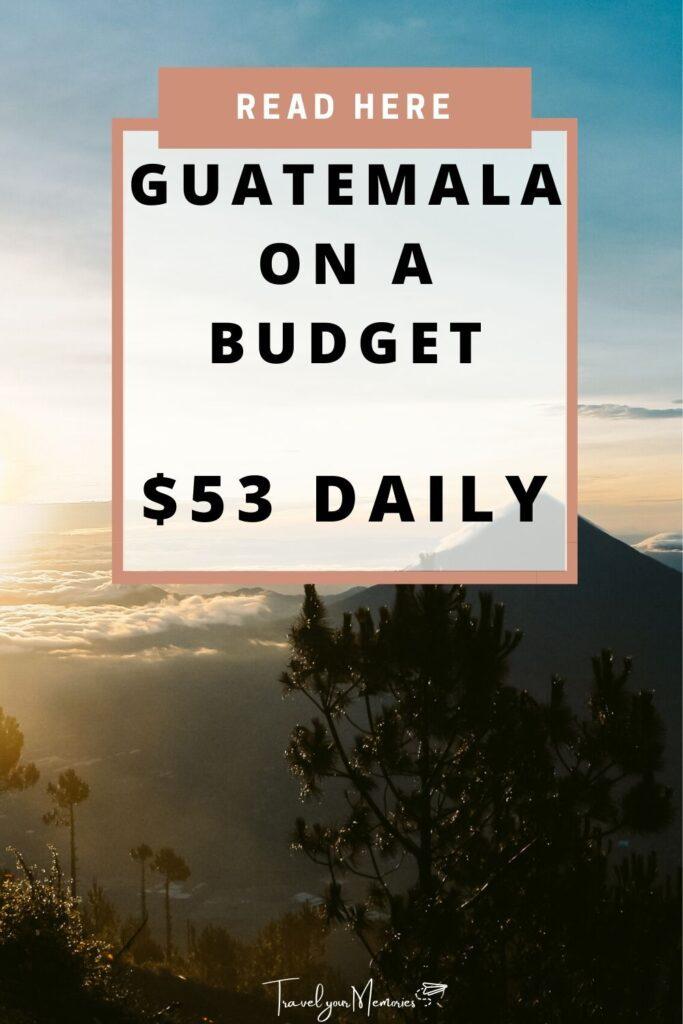 guatemala trip cost pin I