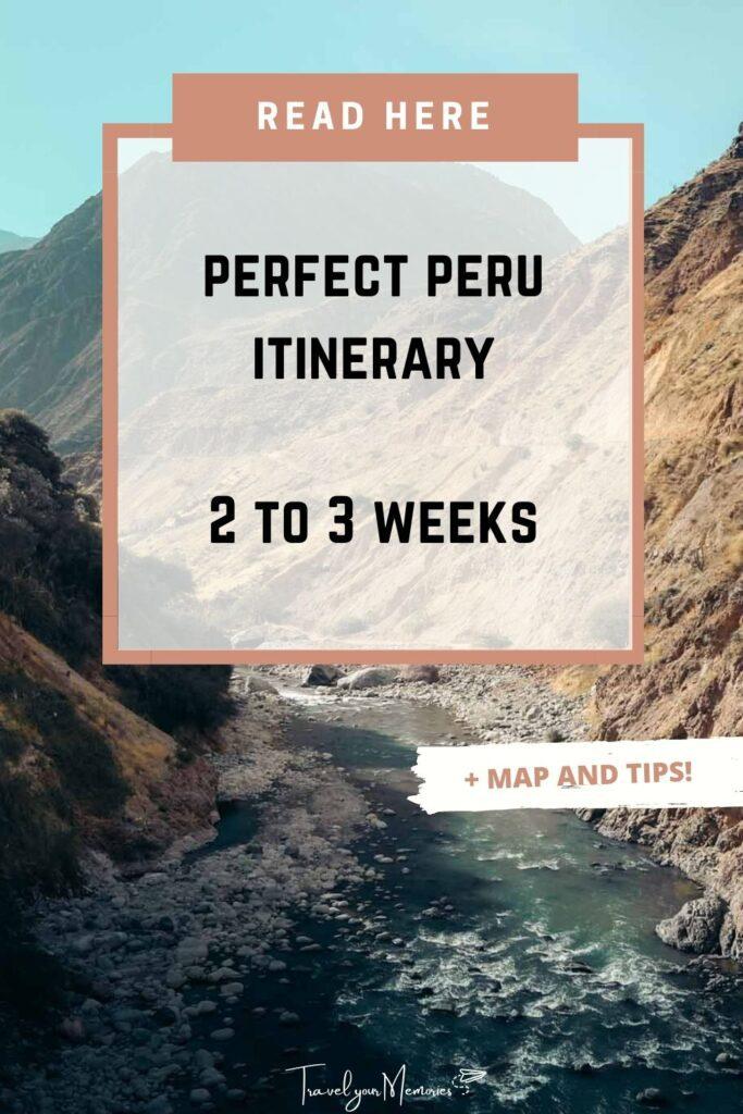 peru itinerary pin II
