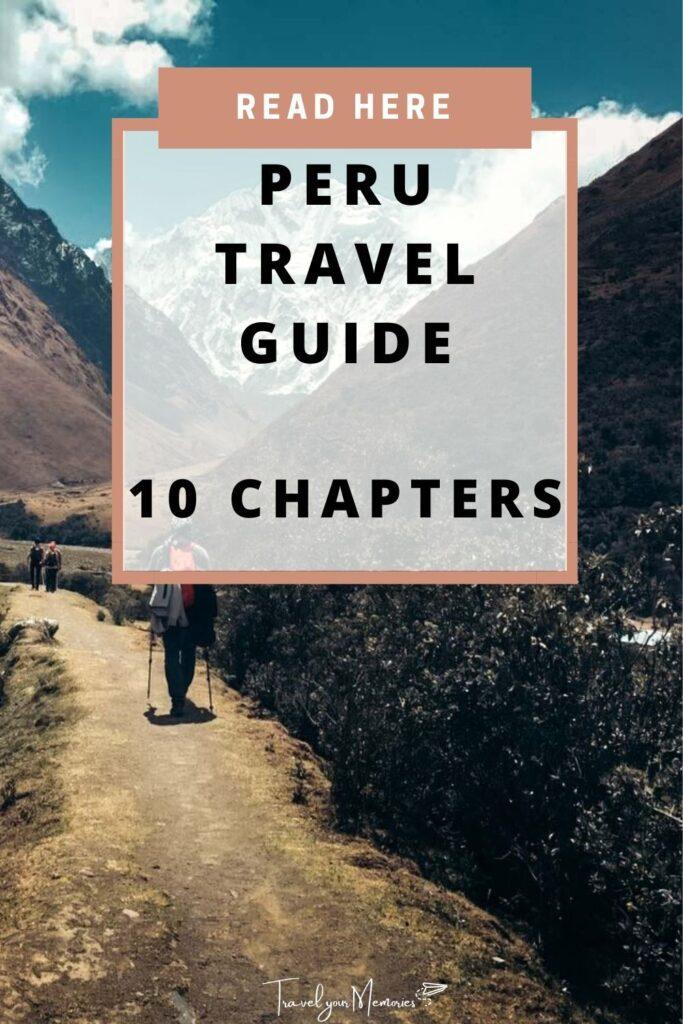 peru travel guide pin II