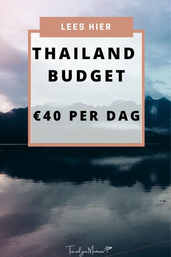 thailand budget pin II